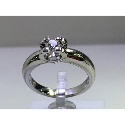 Solitario Oro 1ª ley con diamante