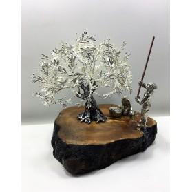Olivo metal con baño de Plata