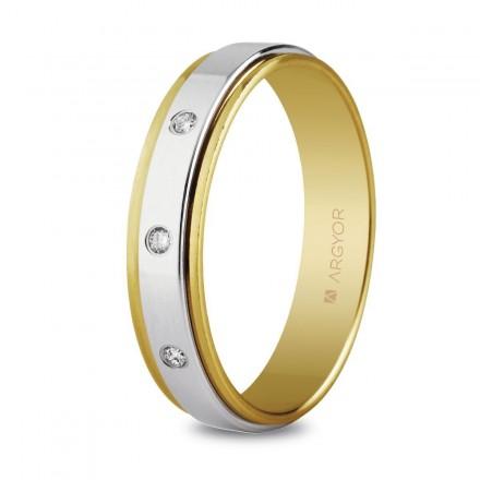 Alianza boda Oro y Diamantes