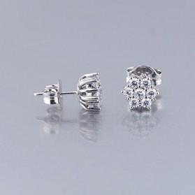 Pendientes  Oro 1ª Ley con Diamantes